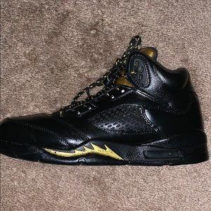best service d033c 249d7 Nike Air Jordan Retro 5 Olympic gold customized